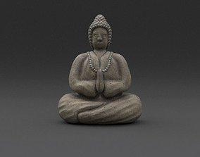 3D model Buddha Weathered