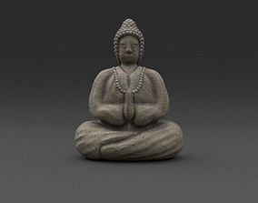 3D model Buddha Weathered