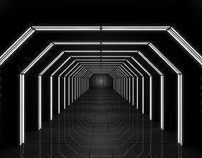 Sci Fi Corridor 3D model VR / AR ready