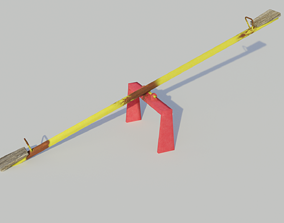 Playground See-saw - Low-poly PBR 3D model