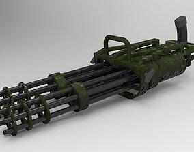 Double machine gun 3D model