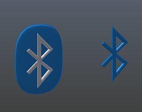 4g 3D model Symbols of bluetooth
