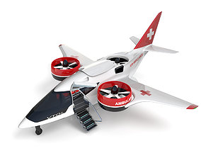Medical Ambulance XTI Electric Aircraft eVTOL 3D model 2