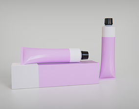3D model Cosmetic Tube With Box
