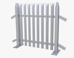 3D model collapsible fence