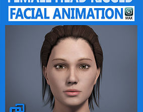 Adult Female Head Rigged 3D