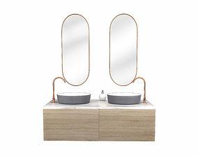 3D model Modern Bathroom Set