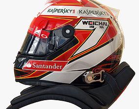 Kimi Raikkonen 2014 style Racing helmet 3D