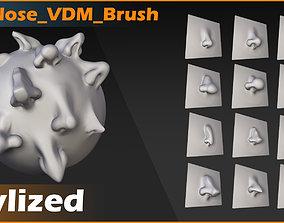 3D model Noses 12 Stylized VDM Brush