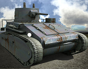 3D asset Leichttracker German Tank WW II