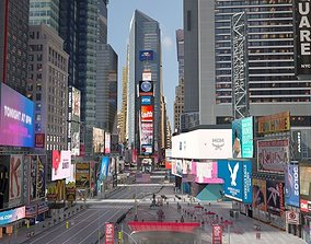 york 3D model New York Times Square at Day and Night