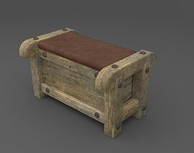 photorealistic Bench 3D