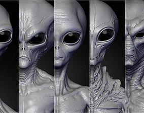3D Realistic Aliens Sculpts Bundle 2