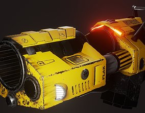 Flak cannon 3D asset