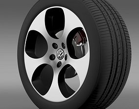 3D model VW Polo GTI 2011 wheel
