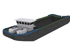 Split Hopper Barge - Self Propelled 3D