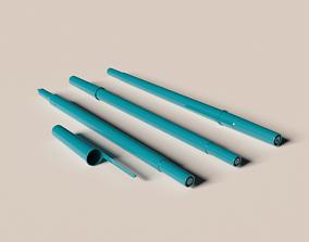 3D model ball point pens