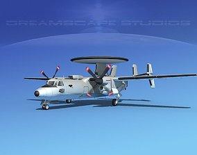 3D model Grumman E-2C Hawkeye V19