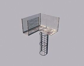 Metal Walkway and Ladder 3D asset