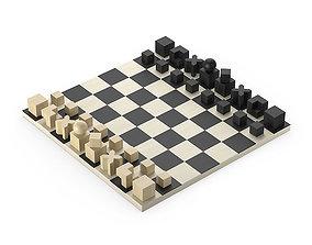 3D Bauhaus Chess set