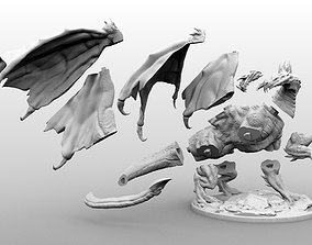 High Resolution Black Dragon Miniature 3D print model