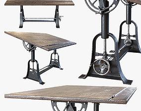 3D RH - 1910 American Trestle Drafting Table