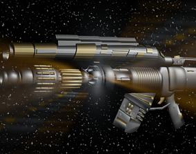 sci-fi weapon 3D
