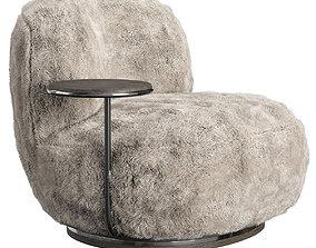 3D Pierre Armchair Fur