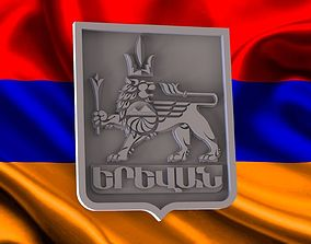 banner 3D printable model coat of arms Yerevan city