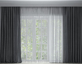 curtains 3D model fabric