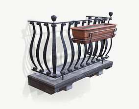 3D model Old Italian Balcony