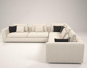 Broms Modern Sofa 3D