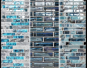 3D Glass mosaic tile