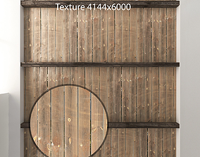 Wooden ceiling with beams 4 3D model