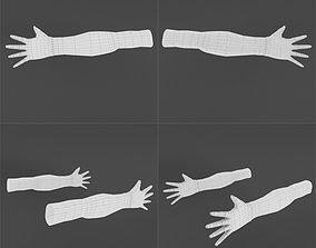 Hands lowpoly base 3D asset