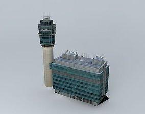 Hong Kong Airport Control Tower 3D model