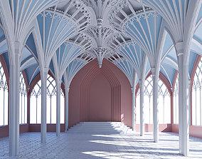 3D model Gothic hall