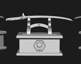 3D print model Overwatch - Genji Sword Tablet Pen Holder