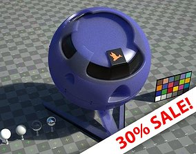 Blue plastic material - change colour - VRay 3D asset 2
