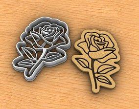 Rose cookie cutter 3D print model