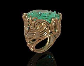 3D print model stone Female ring