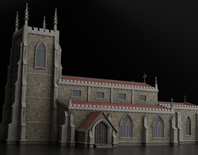 Medieval Gothic Church 3D asset