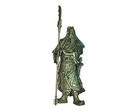 Guan Gong Sculpture 3D print model 3D model realtime