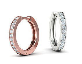 hoop-earrings Hoop Earrings 17mm 3dmodel printable