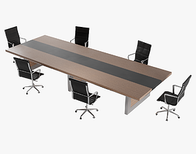 3D asset Conference Table Lowpoly