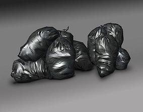 garbage bags 3D asset