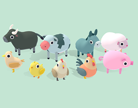 3D model Quirky Series - Animals Combo Pack