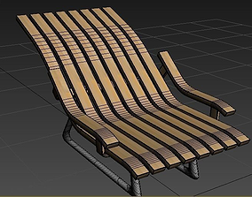 Modern Wood Chair 3D model low-poly