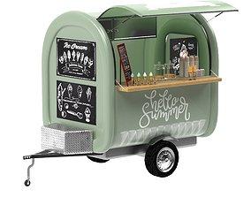 3D Food truck Ice cream