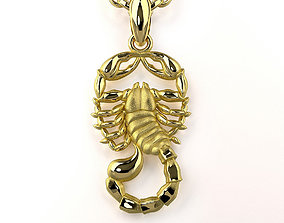 3D print model Scorpio Zodiac Sign Pendant 001-11